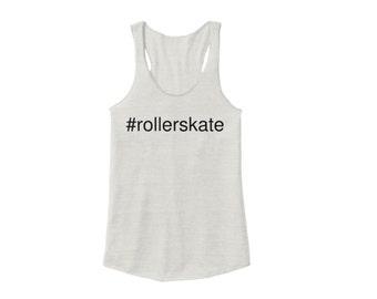 Hashtag #rollerskate Racerback, Ivory