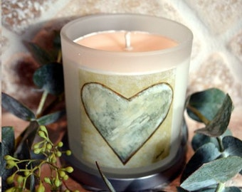 Luxuriously Scented Heart Adorned Essential Oil and Soy Candles