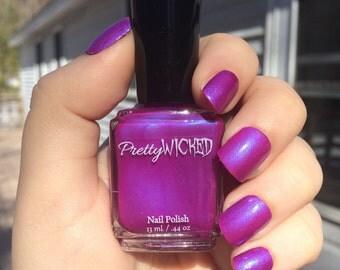 Magenta Nail Polish, Margo Polish, Purple Nail Polish, Pink Nail Polish, Iridescent Nail Polish, Fuchsia Nail Polish