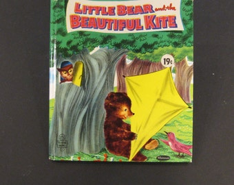 LITtLE BEAR and the BEAUTIFUL KITE   vintage Like New  Whitman Tell a Tale Janice Udry Hertha Depper 1955 Nice!!