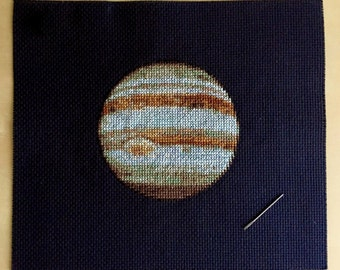 Jupiter Cross Stitch Pattern Instant Download PDF