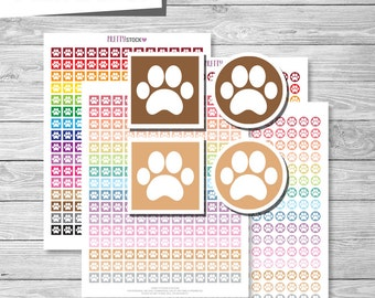 Paw Print Stickers, Printable Paw Print Stickers, Pet Planner Stickers, Printable Pet Stickers, Printable Pet Planner Stickers - PS42