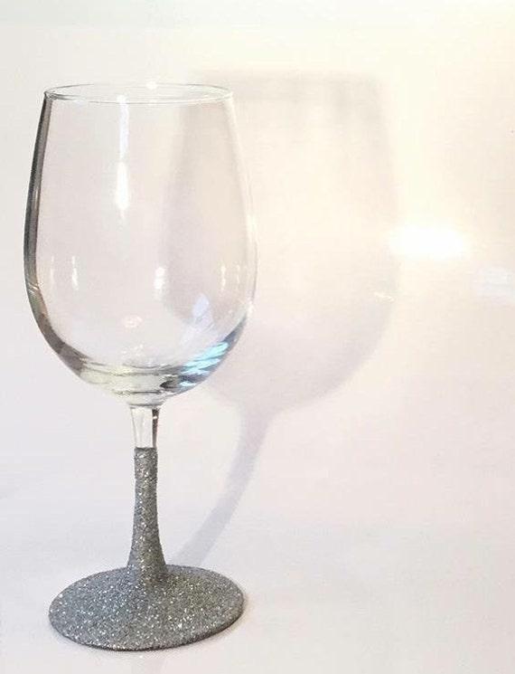 glitter dipped glasses glitter wine glass by. Black Bedroom Furniture Sets. Home Design Ideas