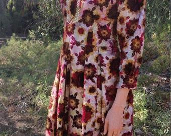 Vintage velvet and metallic dress