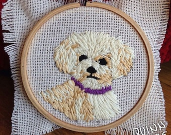Custom Pet Embroidery in a 4 inch hoop