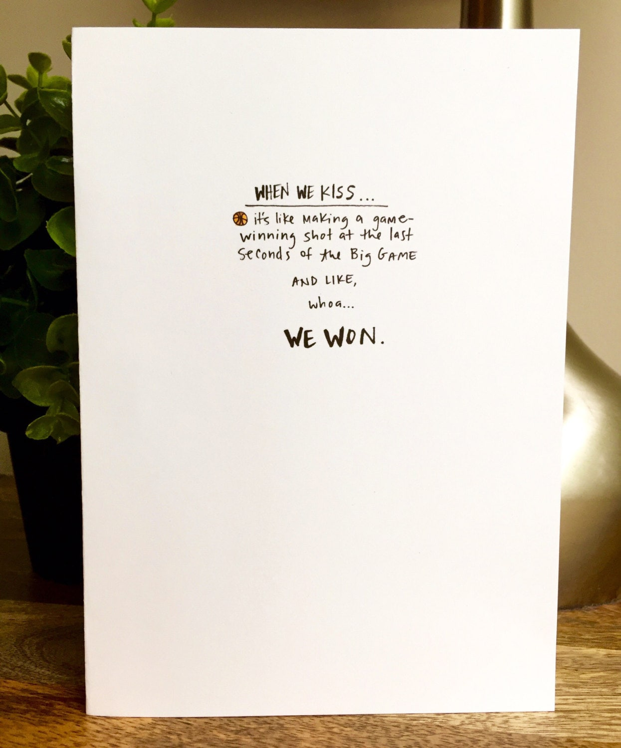 love you card One Year Anniversary Card for husband Paper