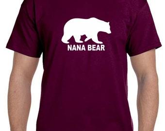 Nana Bear Shirt, Nana Shirt, Nana Gift, Gifts for Nana, Grandma Gift, Christmas, Gifts for Grandma, Personalized Grandparent Gifts