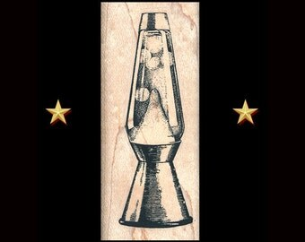 LAVA LAMP Rubber Stamp, Lava Lamp Stamp, Groovy Hippie Rubber Stamp, Boho Rubber Stamp, Retro Lava Lamp, Psychedelic Lamp, Groovy Giftables