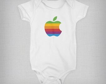 Baby Onesie, Vintage Apple Onesie, Retro Apple Onesie, Funny Baby Onesie, Baby Boy, Baby Girl, Baby Gift, Unique Onesie, Retro Baby Clothes