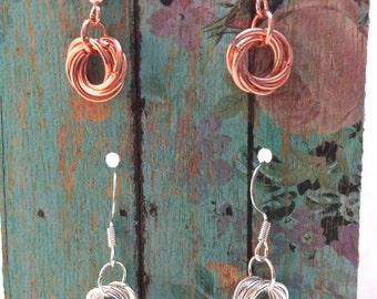 2-Pair Möbius Flower Chainmaille Earrings