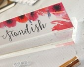 """Personalized Desk Nameplate """"Claire"""" - Custom Name Plate Sign Decor - Office Accessories - Modern Office Supplies"""
