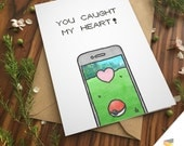 POKEMON GO CARD love pun greeting card | I Choose You Love Printable Download Cute Boyfriend Girlfriend Anniversary Team Instinct Valor