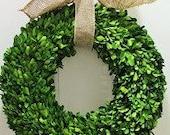 Wreaths, Boxwood Wreath ,Natural  Dried Boxwood wreath ,Year round Wreath ,Round Boxwood,  Spring Wreath, Summer Wreath