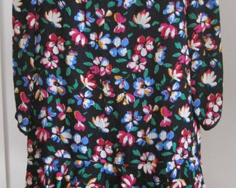 Silk Dress by Richard Warren for Thea Alta Moda, 100% Silk, Vintage