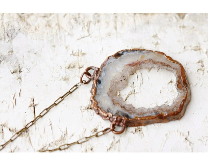 Geode Slice Necklace