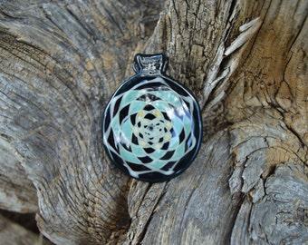 Fillacello, Heady glass pendant, handmade, ready to ship