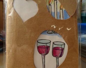 Notebook / Embellished notebook / Sketchbook / Peephole sketchbook - Yummy