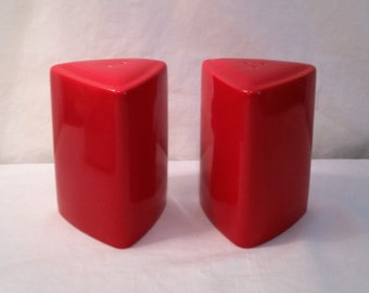 Bright Red Salt and Pepper Shakers