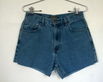 Eddie Bauer high waisted cutoff jean shorts