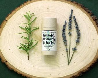 Lavender, Rosemary & Tea Tree Deodorant - Organic Deodorant - All Natural Deodorant