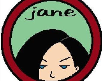 Jane Lane Cross Stitch Pattern