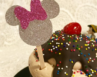 Minnie Mouse ~ Cupcake Toppers ~ set of 12
