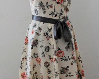 40s Floral capsleeve Dress