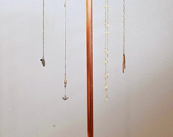 Tall Copper Jewelry Display ( 25 inches)   - Jewelry Stand - Jewelry Organizer
