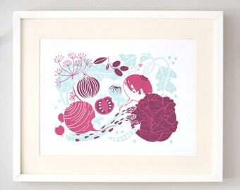 Vegetable Print (large, DIN A3)