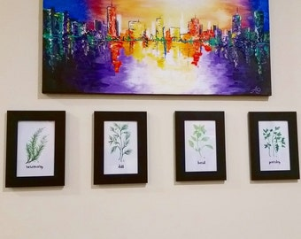 Watercolor Herb Painting Prints