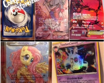 Custom Pokemon Card, Complete Customization- High Quality Satin Finish- Digital File Available Upon Request