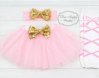 Pink Tutu Skirt Set, Baby Tutu Skirt, tutu skirt & headband set, Girl Tulle Skirt, baby girl skirt, 1st birthday Cake Smash outfit, ACC