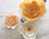 "Paper Flower Backdrop // Giant Paper Flower // Paper Flower Wall // Boho Nursery // Boho Wedding  // ""Whimsical Blooms"""