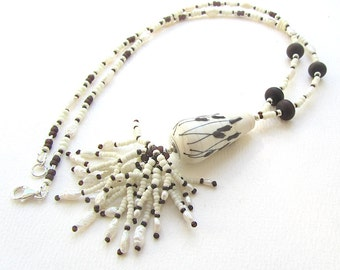 Winter Bulrushes Necklace