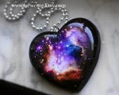 Unique Gift for Her, Galaxy Nebula Necklace, Glitter Resin Space Pendant, Nebula Jewelry, Outer Space Handmade Resin Jewelry by isewcute