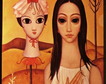Big Eyes Living Doll Mannequin Head Margaret Keane 1963 Unused Postcard