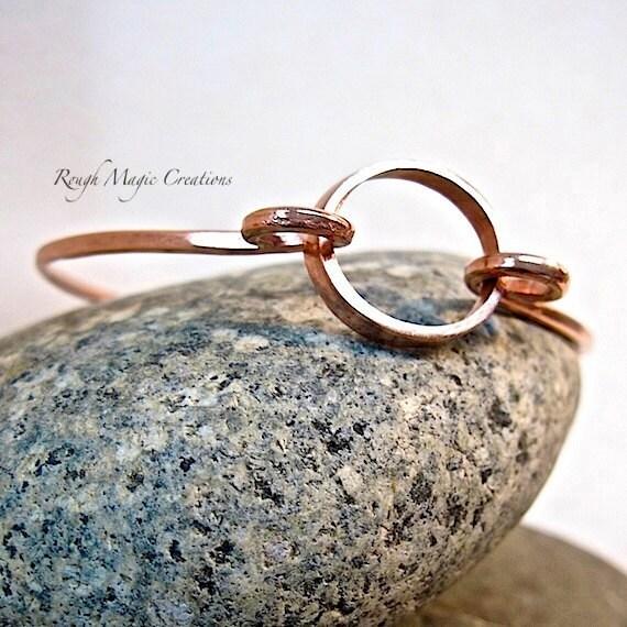 Circle Bracelet Copper Bangle. Metal Bracelet. Simple Minimalist Unisex Jewelry for Women & Men. Gift for Friend Eternity Promise Bracelet