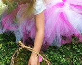 Barefoot Flower Girl Basket, Wild Honeysuckle Twig Basket, Moss Lined Basket, THH
