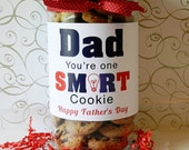 Dad You're One Smart Cookie / Happy Father's Day Gift / Father's Day Gift Label / Cookies for Dad / Smart Dad / Gift Ideas for Father's Day
