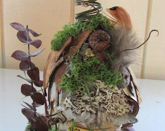 The Barrowby Cottage , Fairy House, Woodland Home, Enchanted Forest, Natural, Birch Bark