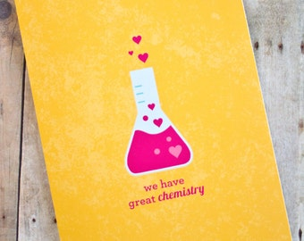 We Have Great Chemistry Science Love/Anniversary Card