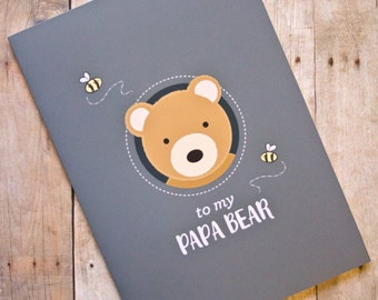 To my Papa Bear Father's Day Bear Card