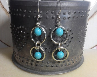Turquoise dangle in the round
