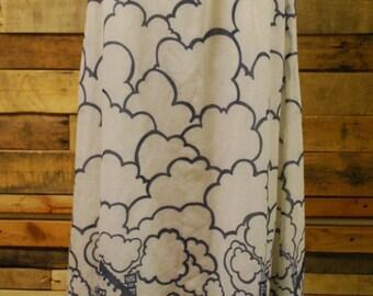 1970's Cloud Scape Maxi Skirt