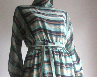 70s 80s Spanish  vintage abstract novelty dress