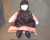 """Amish doll 17 """" SARAH signed by the Artist and dated.Teen color well made,Plain,lovely,original.make a nice gift for a Pink color lover"""