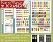 LDS PLANNER Sticker Kit, Mormon Mom Home & Family Edition, Spring Collection Stickers - Printable Instant Download
