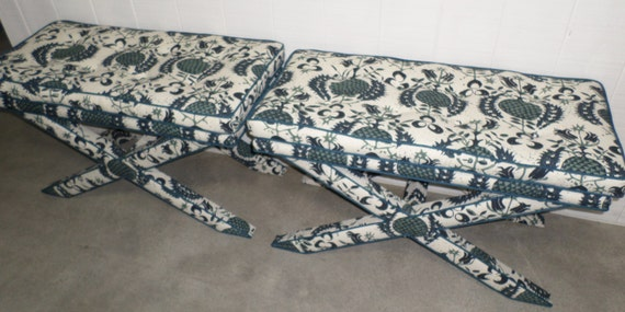X Benches - Extra WIDE w/ Pillow Top - Design Your Own to Suit Your Space