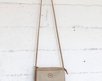 Dooney & Bourke purse, shoulder bag, cream , 90s 1990s small mini purse, cross body