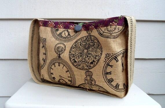 tricot ou sac de messager antique pocket watch imprim toile. Black Bedroom Furniture Sets. Home Design Ideas